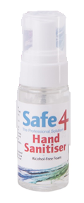 Safe4 Hand Sanitiser Alcohol Free 60ml
