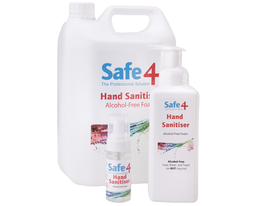 Safe4 Hand Sanitiser Alcohol Free 5 litre Refil Container
